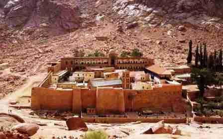 Mosteiro Ortodoxo de Santa Catarina, na Península do Sinai, Egito. Duas brasileiras foram sequestradas em ônibus após visitar atração turística do século 6