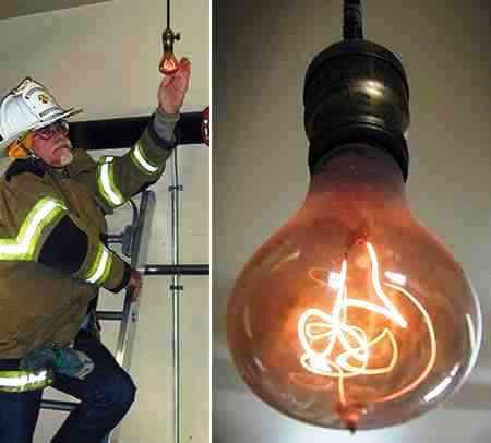 lampada mais antiga