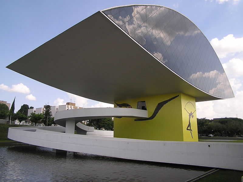 Museu Oscar Niemeyer Curitiba Inaugurado em 2002 Museu do Olho ou Olho do Niemeyer pinheiro segundo Niemeyer_4
